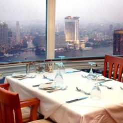 360 Revolving Restaurant at the Cairo Tower: Panorama of Tourist Attraction