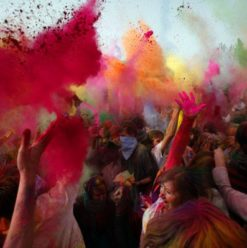 Colour Festival: Holi Festival at the Swiss Club in Cairo