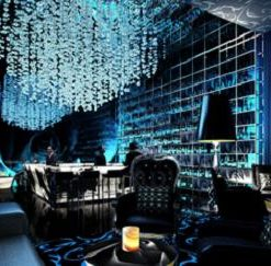 Blue Rose Bar: Gaudy Bar at the Dusit Thani Lakeview Cairo