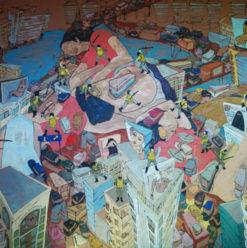 Safar Khan Art Gallery: 'Politica' by Ahmed Kasim