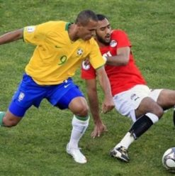 مبارة مصر والبرازيل بساقية الصاوي