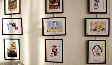 معرض كاريكاتير في ساقية الصاوي