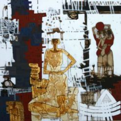 Al Kahila Gallery: 'From Memories of a Folk District' by Adel Tharwat