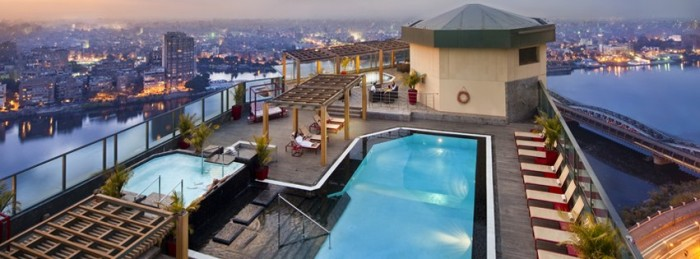Fairmont Nile City: Lush Rooftop Swimming Pool Day-Use For Summer in Cairo