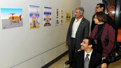 معرض الفنان محمد أكرم جمعة في ساقية الصاوي
