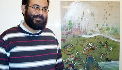 """معرض """"من هنا"""" للفنان عبد العزيز الجندي بمركز كرمة بن هانئ"""