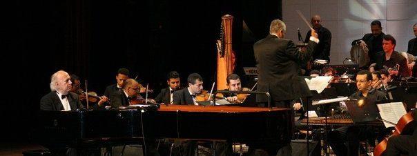 حفل الموسيقار عمر خيرت بدار أوبرا جامعة مصر للعلوم والتكنولوجيا