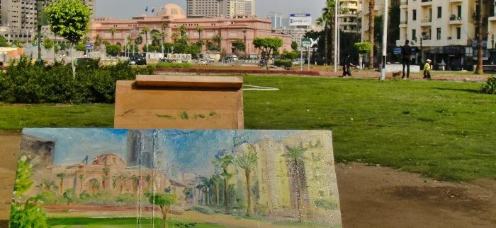 Lost Art: Artist Leaves Paintings in Cairo Streets as Part of Interactive Project