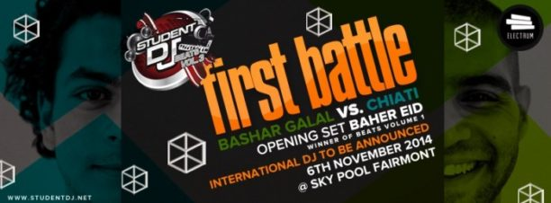 Student DJ 2014 Battle: Bashar Galal vs Chiati at Skypool, Fairmont Nile City