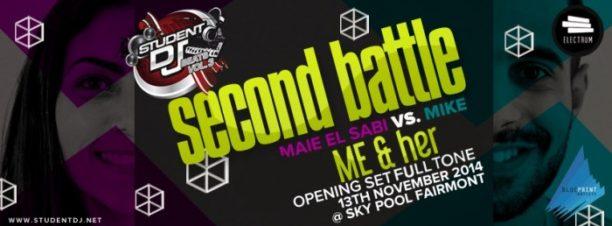 Student DJ 2014 Battle: Maie El Sabi vs Mike at Skypool, Fairmont Nile City