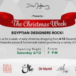 The Christmas Week: Egyptian Designers Rock at Dina Maghawry