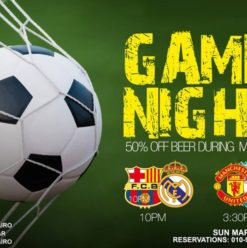 Game Night at Amici Zamalek