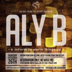 Aly B & inForm at Zigzag