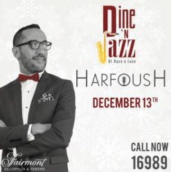 Dine 'n' Jazz with Ahmed Harfoush at Aqua e Luce