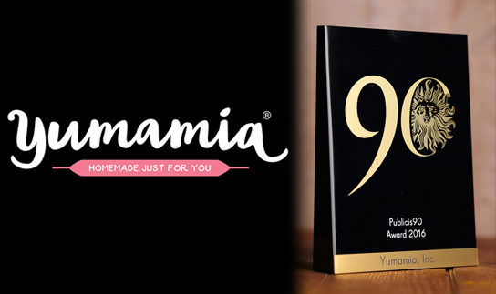 Yumamia Wins Global Publicis90 Award as One of the Most Promising Start-Ups in the World
