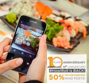 #HowIRoll: Mori Sushi is Celebrating its Tenth Anniversary with a Very Special Gift to its Fans