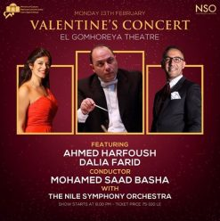 The Nile Symphony Orchestra Valentine's Concert at El Gomhouria Theatre