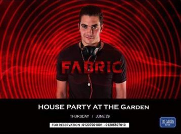 DJ Fabric at The Garden Nile Front