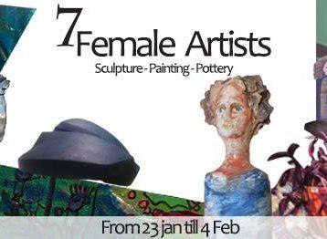 معرض  7Female artists في خان المغربي