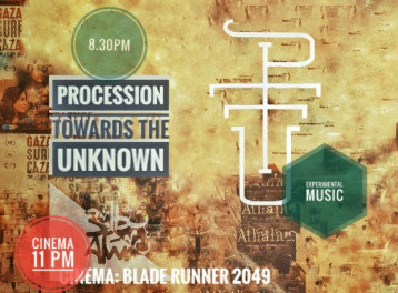 Procession Towards the Unknown, Tarot Reading and 'Blade Runner' Screening at 3elbt Alwan