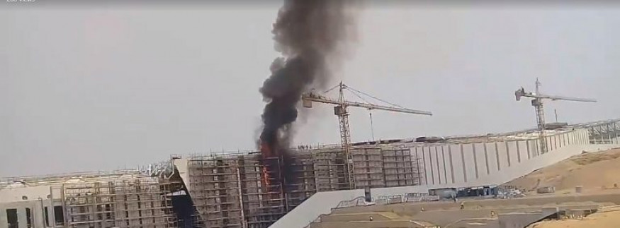 Exclusive Footage Shows Grand Egyptian Museum Catching Fire!