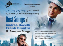 Best Songs of Andrea Bocelli & Frank Sinatra @ Cairo Opera House