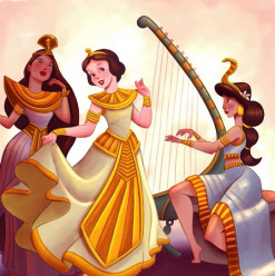 These Artists Just Gave Disney Princesses an Egyptian Twist