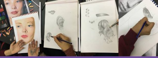 كورس رسم البورتريه في إبداع
