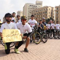 بالعجلة هنوصّل الفكرة... ماراثون رياضي في القاهرة للتوعية بأضرار المخدرات