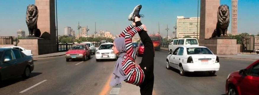 بالصور: حكاية بنت مصرية بتلعب جمباز في شوارع القاهرة