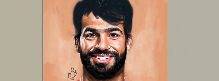 فنان مصري رسم محمد صلاح بأكتر من تسريحة شعر.. دي كانت النتيجة