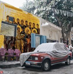بالفن القبطي القديم... شاب مصري بيحلم بتحويل حوائط القاهرة لمتحف فني مفتوح