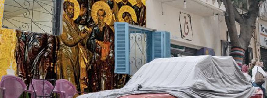 بالفن القبطي القديم… شاب مصري بيحلم بتحويل حوائط القاهرة لمتحف فني مفتوح