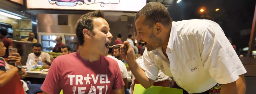 WATCH: International Foodie Is Amazed by Egyptian Street Food