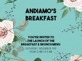 Breakfast & Brunch @ Andiamo's Pizza Garden & Bar