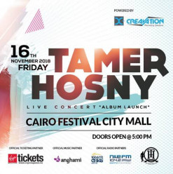 Tamer Hosny at Cairo Festival City