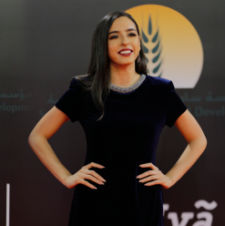 Sarrah Abdelrahman Stuns in a Statement Dress