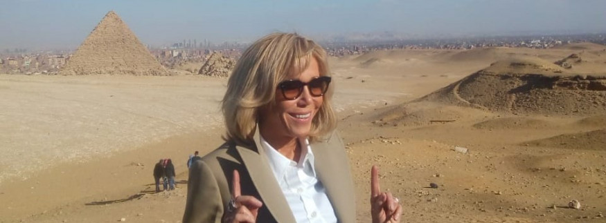 IN PICTURES: Brigitte Macron Explores the Pyramids of Giza