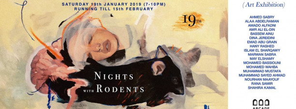 'Nights with Rodents' Exhibition at Arcade Gallery