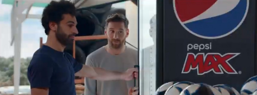 WATCH: Mo Salah & Leo Messi Are the Stars of Pepsi's Latest Ad