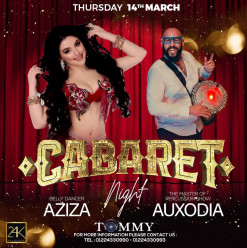 Cabaret Night ft. Belly Dancer – Alla Aziza / Percussion – Auxodia / DJ Tommy @ 24K Lounge