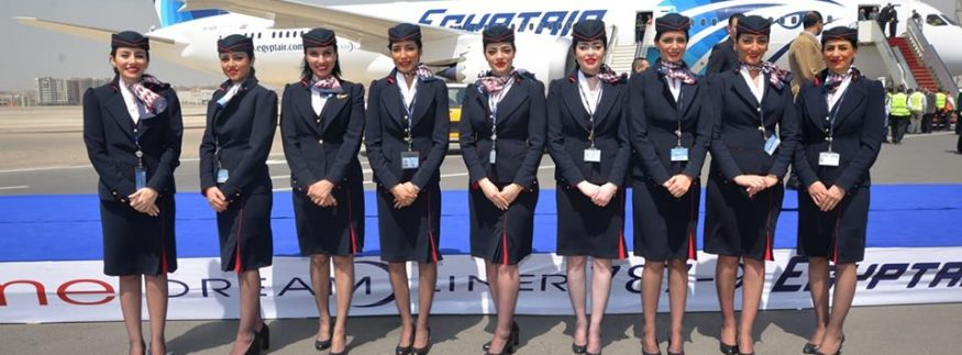 IN PICTURES: EgyptAir Inaugurates B787-9 Dreamliner With Brand New Cabin Crew Uniforms