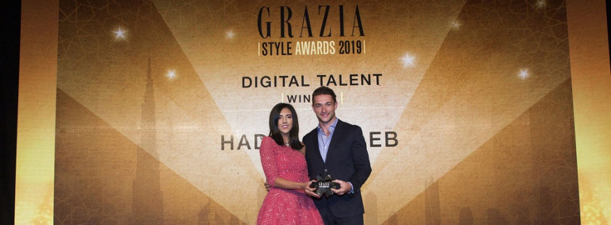 Digital Talent of the Year: Egyptian Hadia Ghaleb Steals the Show at Grazia Style Awards 2019