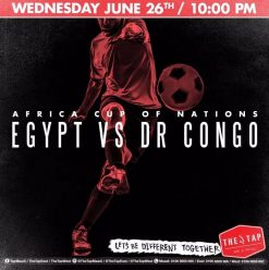 AFCON 2019 – Africa Cup of Nations 'Egypt vs DR Congo' @ The Tap Maadi