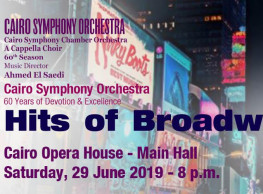 'Hits of Broadway' Night at Cairo Opera House