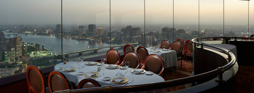 Grand Nile Tower Hotel's Revolving Restaurant: A Fine-Dining Experience That Comes with a ‎Spectacular View