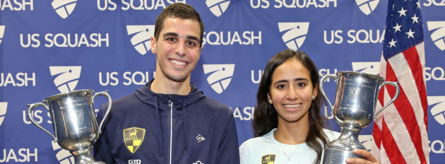 Ali Farag and Nouran Gohar Win the 2019 ‎US Open Squash Championship ‎