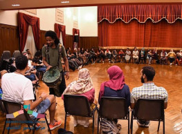 Drum Circle at Gusour Cultural Centre