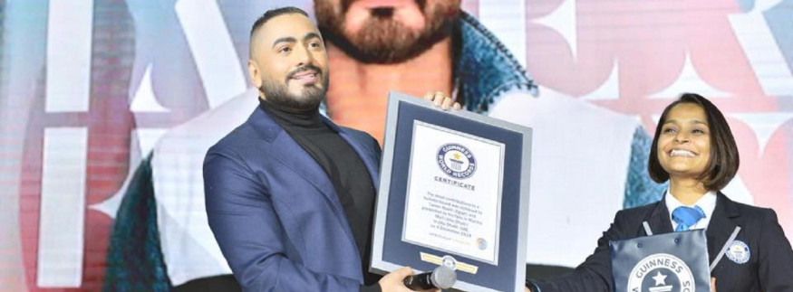 Tamer Hosny Breaks Guinness World Records for Most Contributions to a Bulletin Board