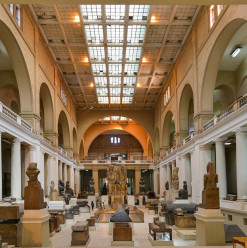 Exhibition for French Excavation on Display at the Egyptian Museum